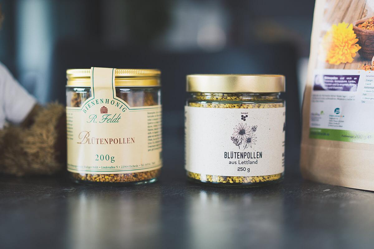 Blütenpollen Produkte