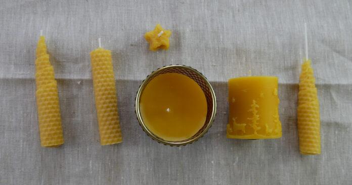 Selbst gemachte Bienenwachskerzen