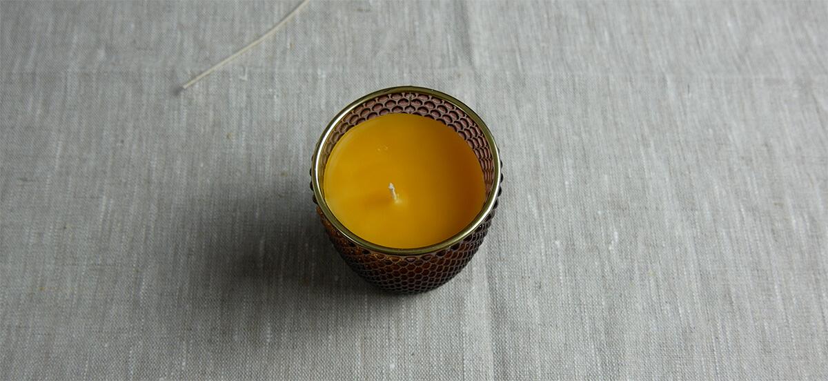 Kerze im Teelicht Glas