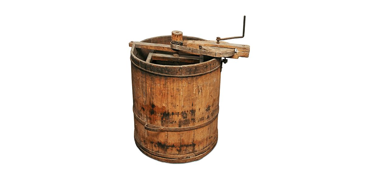 Eine historische Honigschleuder