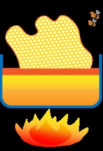 Früher wurde Honig aus den Waben geschmolzen.