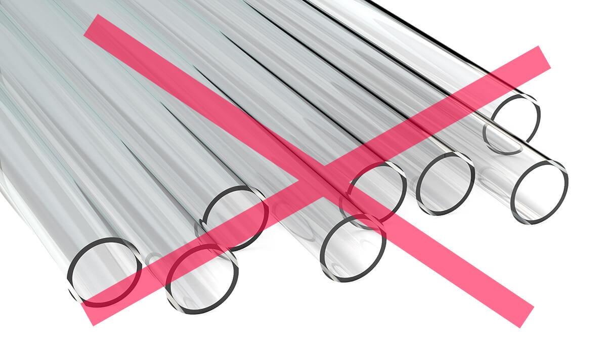 Rohre aus Acrylglas